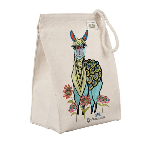 REUSABLE Natural Life Eco CUTE Gift Bag MEOW Recycled Medium Lunch CAT