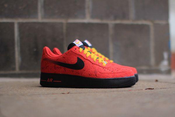 Nike Air Force 1 Mid Black Red 'Bred' (rouge et noir) (2