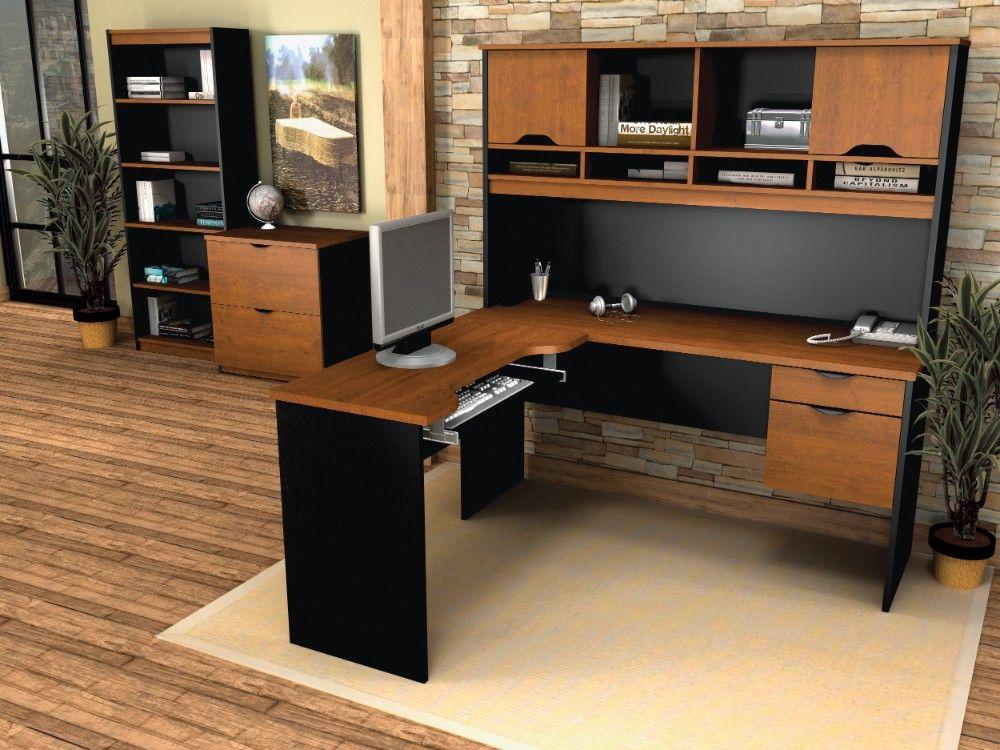 Innova L Shaped Desk W Accessories In
