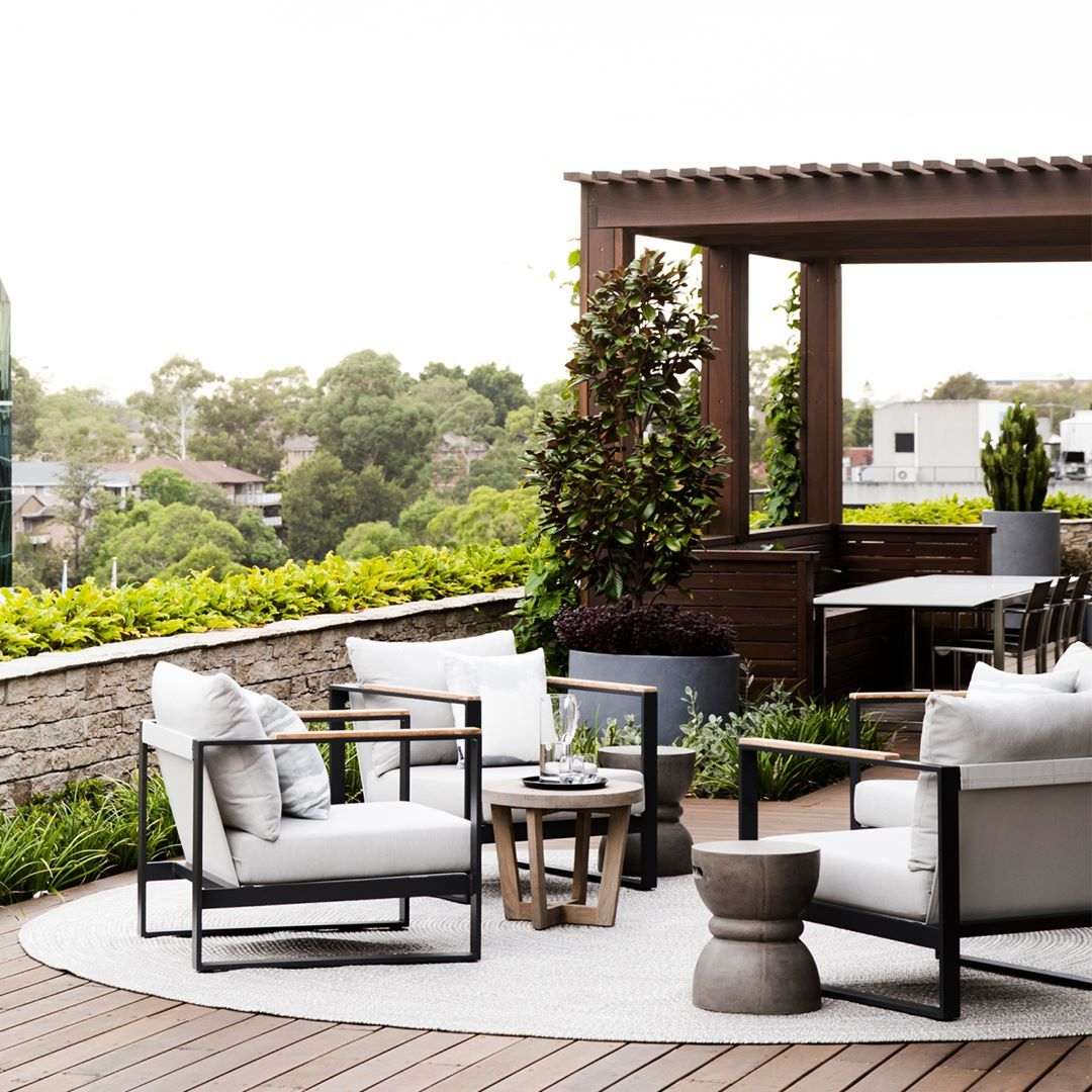 Alfresco Living With The Barcelona Outdoor Armchair As Styled By Coco Republic Interi Outdoor Armchair Elegant Outdoor Furniture Contemporary Outdoor Furniture