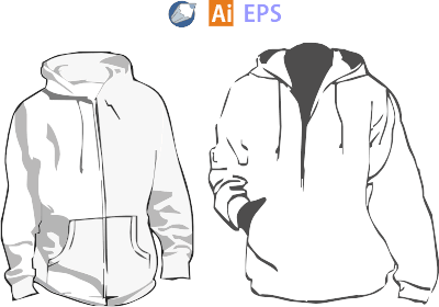 Hoodle Jackets Vector Fashion Design Template Clothing Templates Vector
