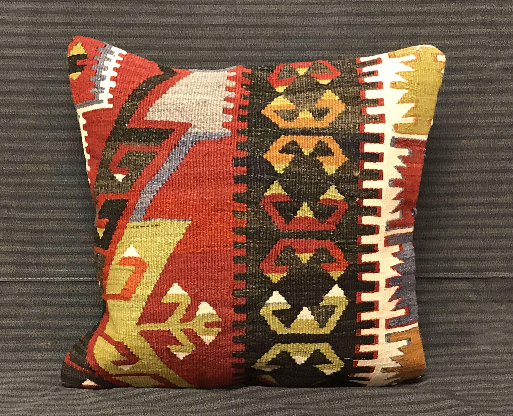 Kilim Pillow Handmade Pillow Cover Traditional Pillow Turkish Kilim Pillow Vintage Pillow Boho Pillows Rug Pillows Cover Turkish Bedding by TurkishBohoChic on Etsy