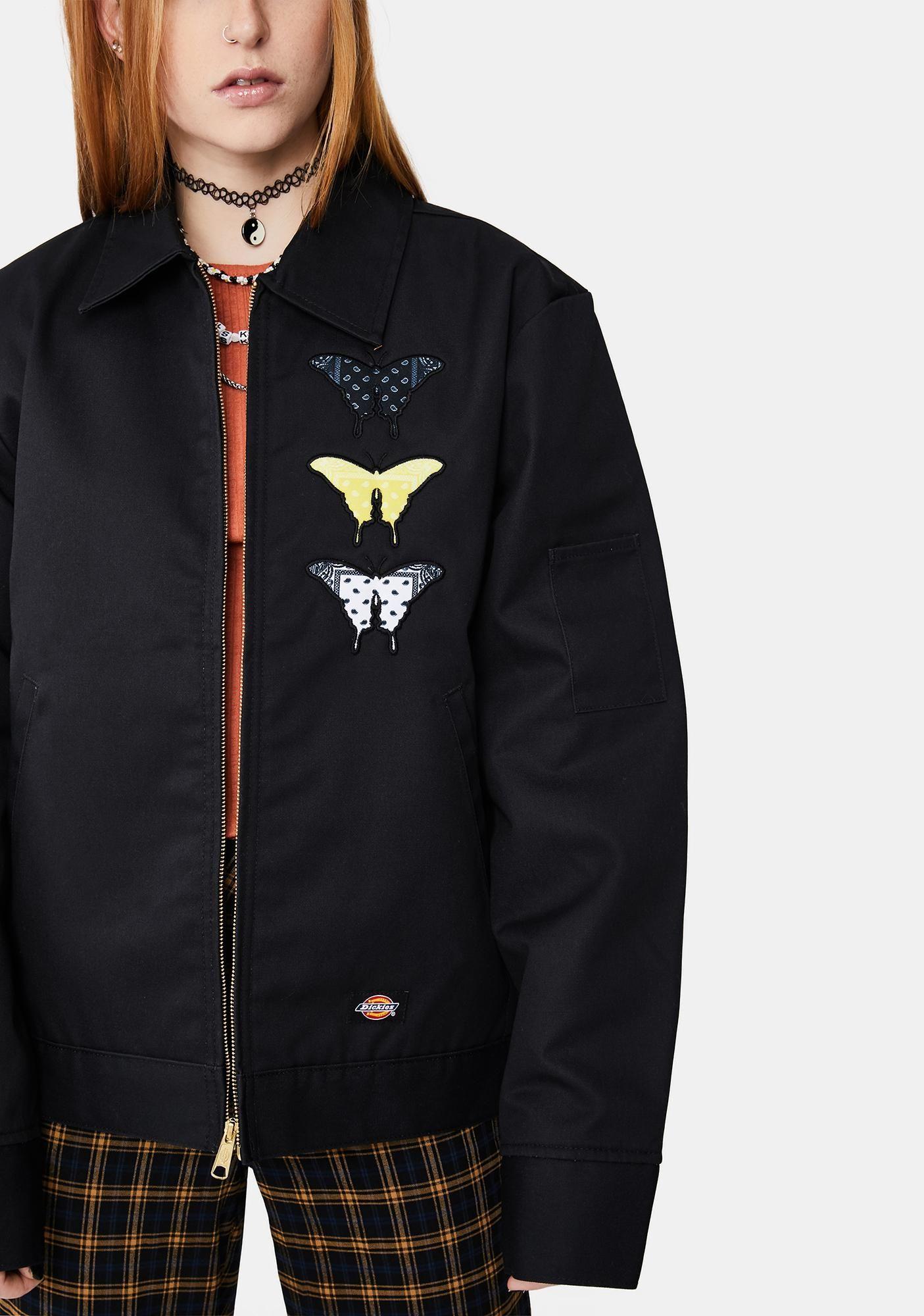 Bandana Butterfly Eisenhower Bomber Jacket Bomber Jacket Black Bomber Jacket Jackets [ 2000 x 1405 Pixel ]