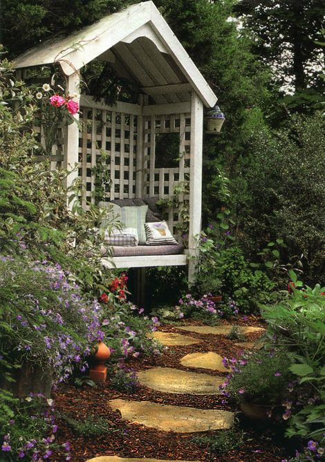 Looks like a great place to read a good book! | Garden ...