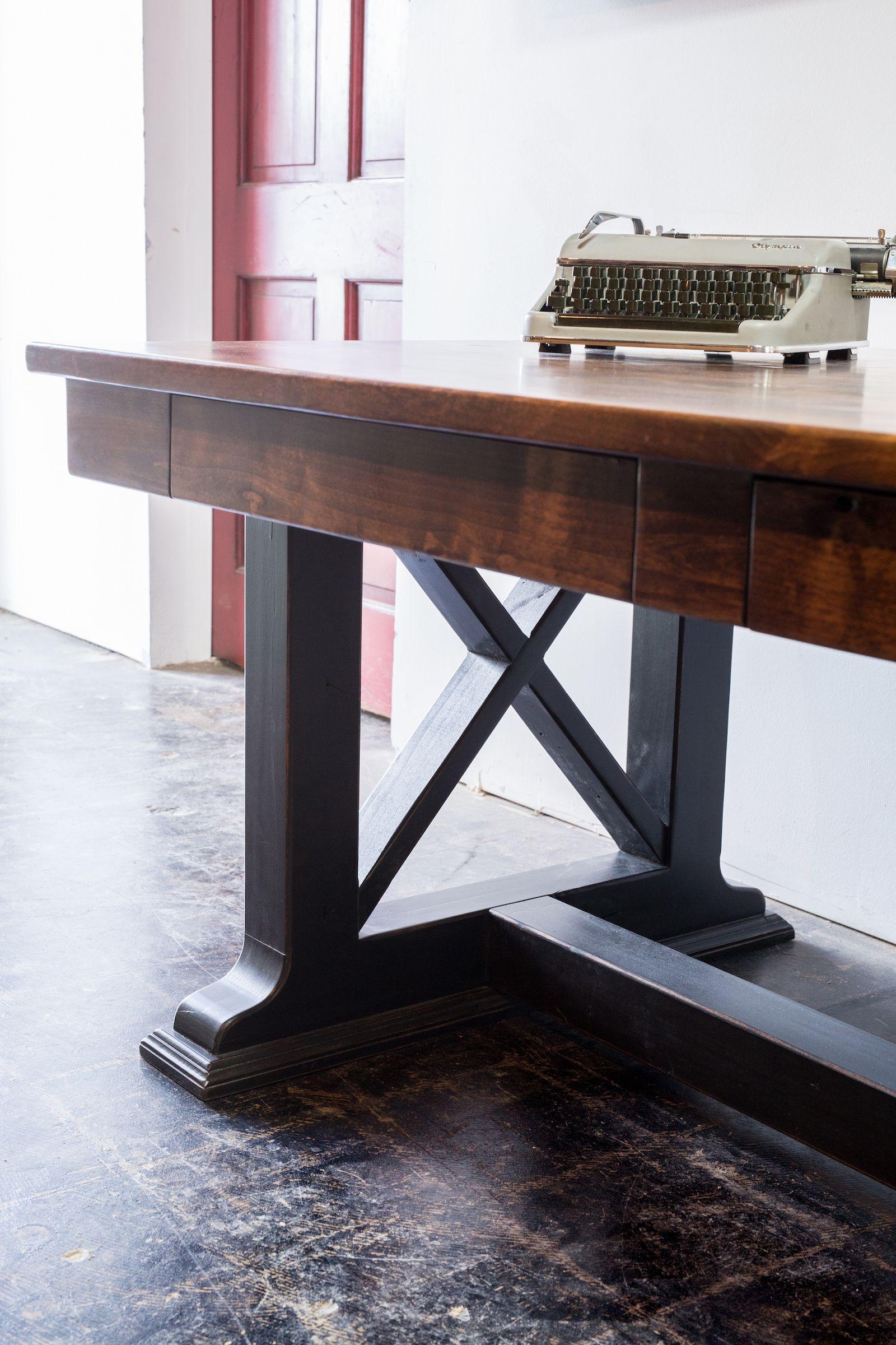 Holton Desk Rustic Farmhouse Style Desk Office