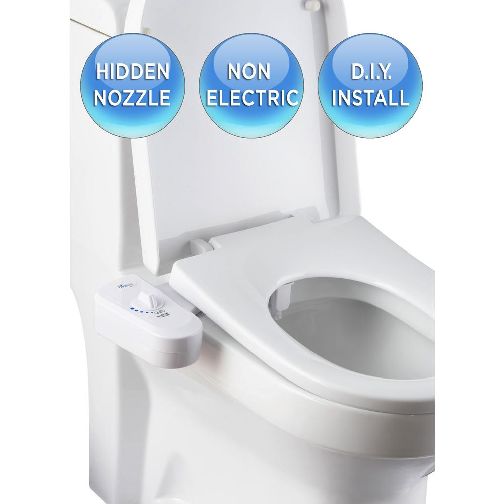 Biobidet Non Electric Attachable Bidet System For 2 Piece Toilets