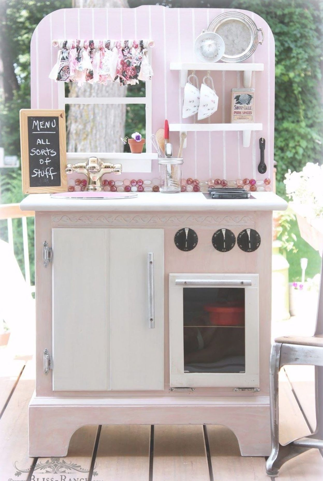 Recycled Nightstand Play Kitchen Playkitchen