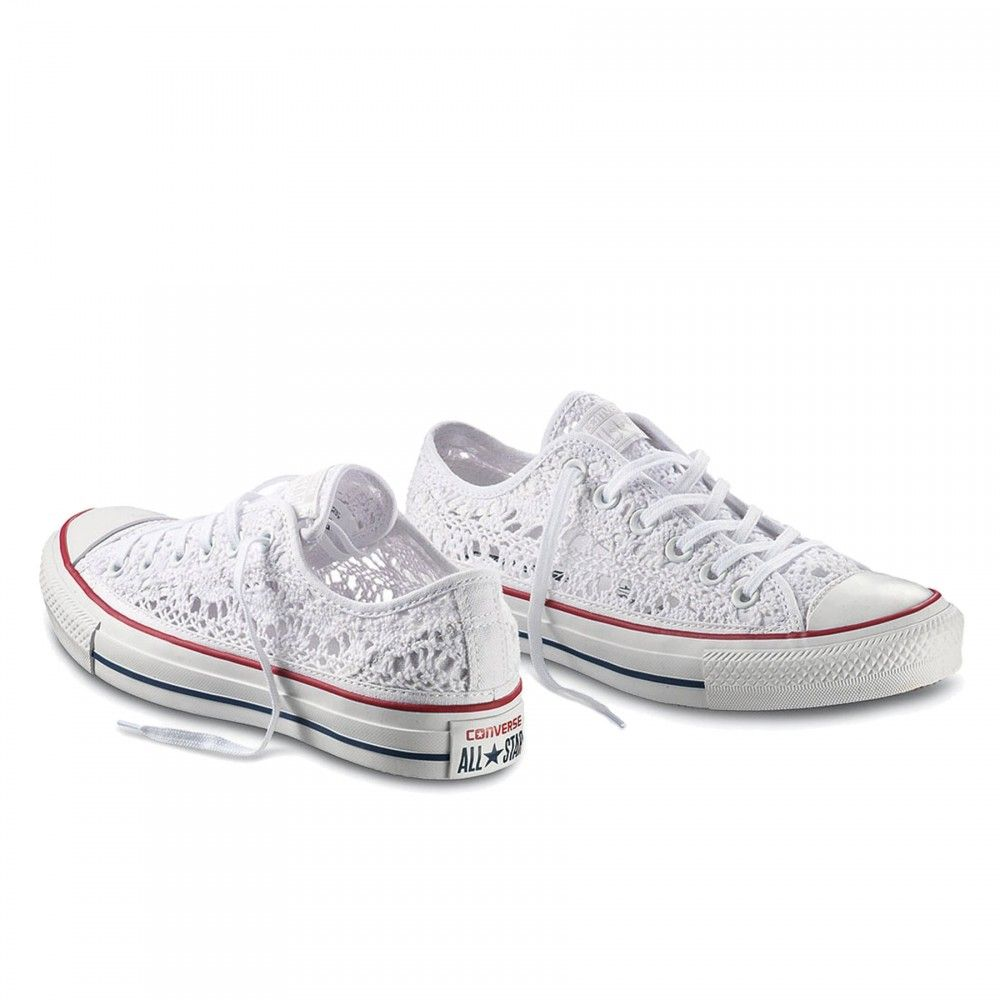 Converse Scarpa All Star Ox Crochet Bianco