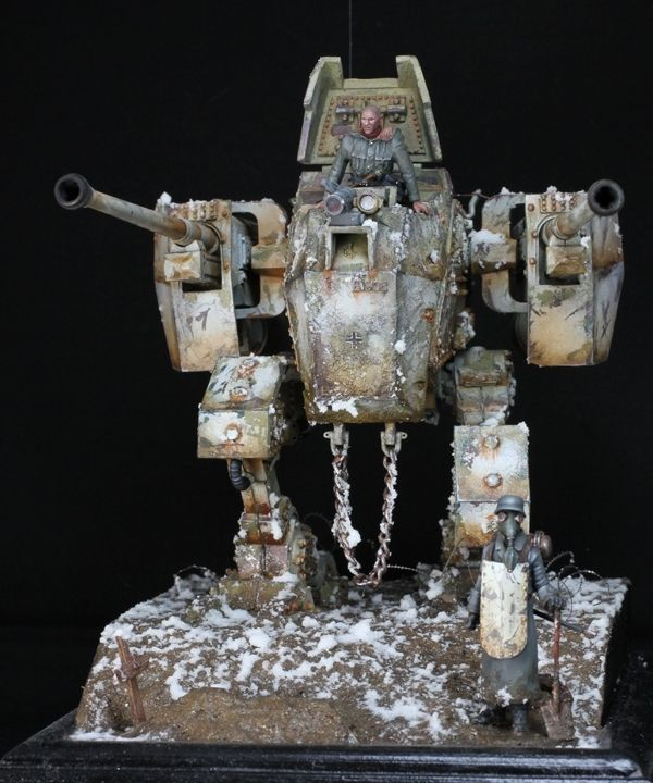 Imperial Guard Sentinel, Painted by Florian Tuffskull Weinheimer