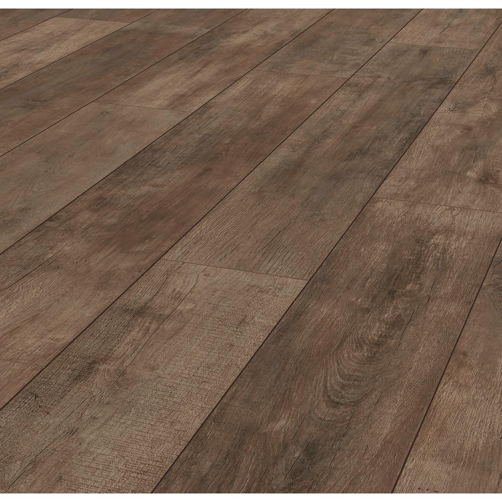 Lifeproof Jacobean Oak 12 Mm Thick X 8 03 In Wide X 47 64 In Length Laminate Flooring 15 94 Wood Floors Wide Plank Brown Laminate Flooring Laminate Flooring