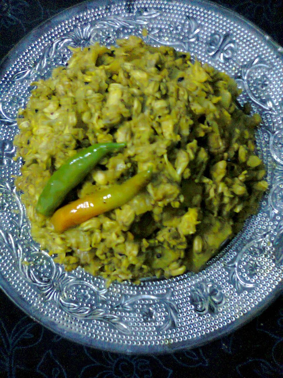 Vegetarian Side Dish Drumstick Flowers Curry Sojne Fuler Torkari Recipe Vegetarian Side Dishes Vegetarian Sides Side Dishes