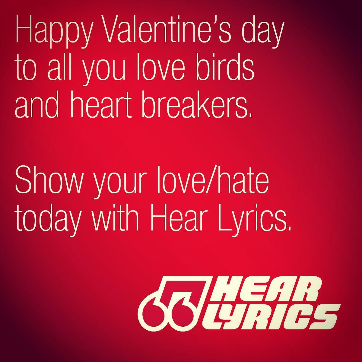 Happy Valentine S Day From Hear Lyrics Happy Valentine Lyrics Happy Valentines Day
