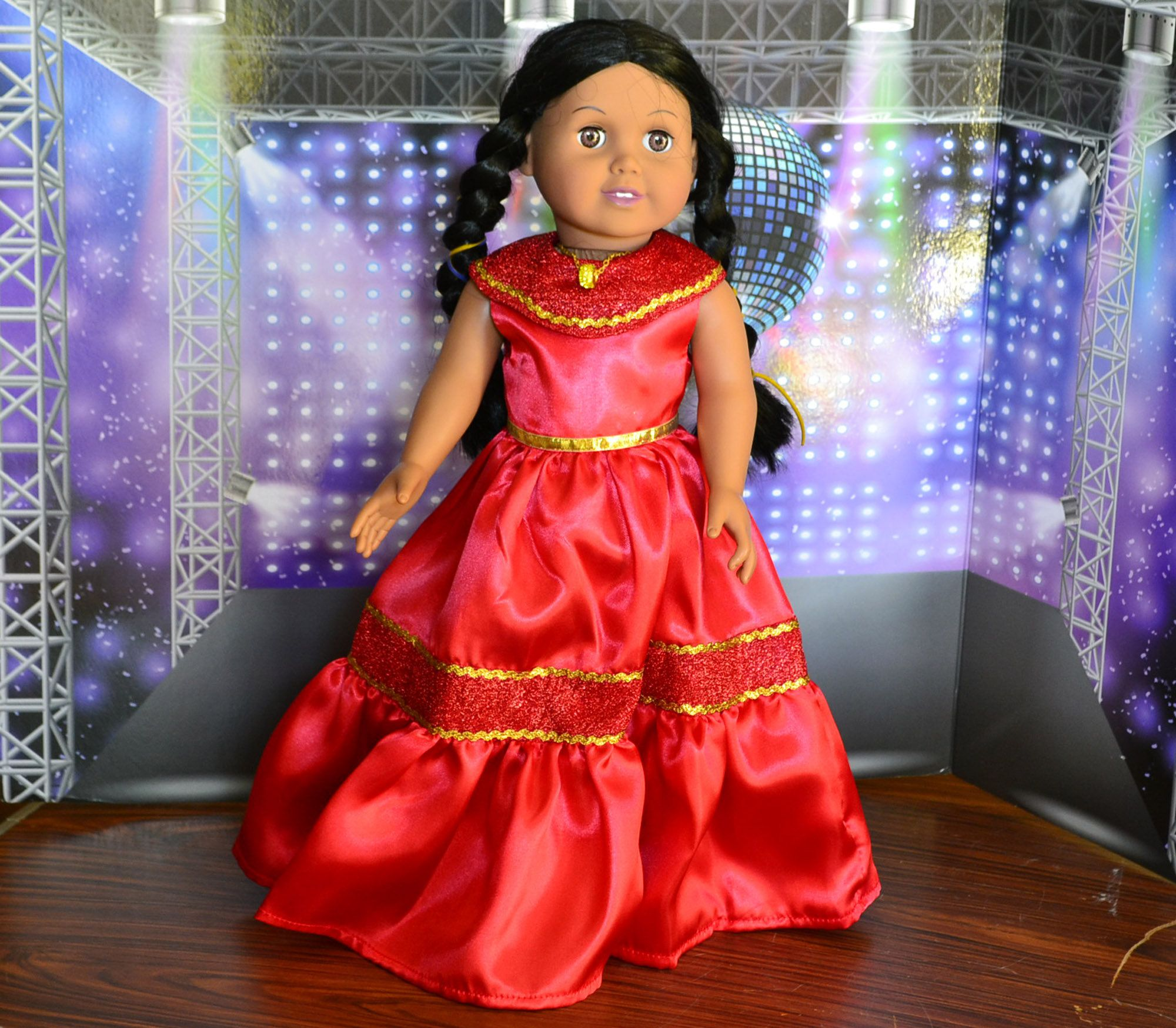 Red Long Dress 18 inch doll clothes for Elena American Girl, Madame Alexander Doll Clothes #18inchdollsandclothes