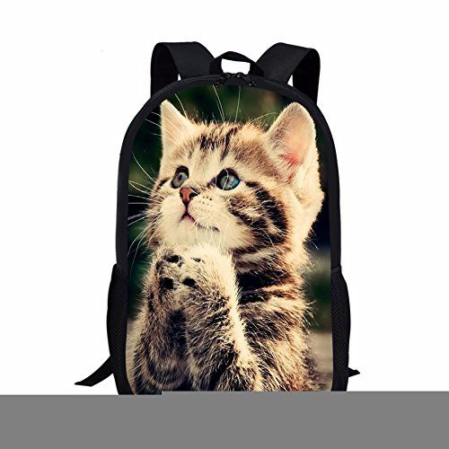 f103638c0d22 Instantarts Cool Animal Wolf Print Kids Backpack for Travel ...