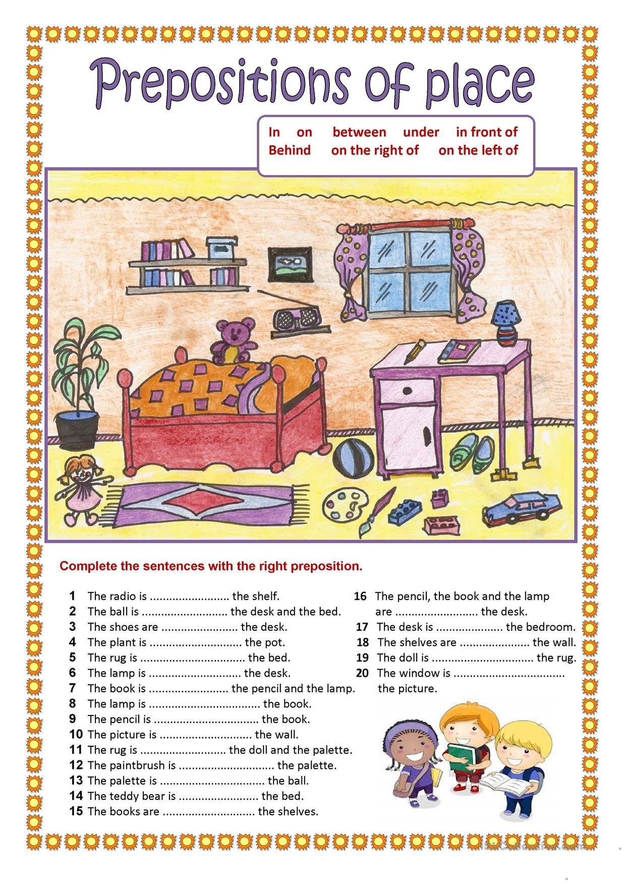 Oneclick print document English prepositions, English