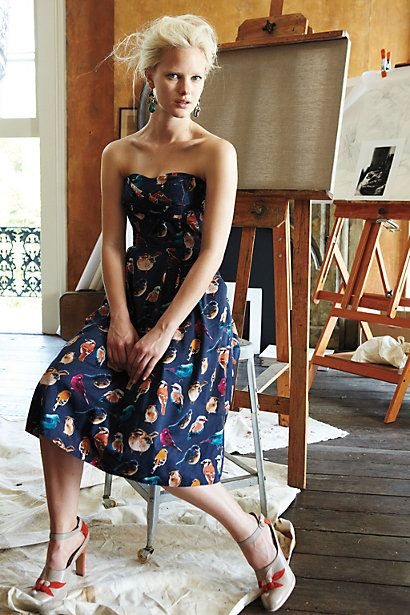 Native Birds Dress - Anthropologie.com I want this dress! Where can I wear it?