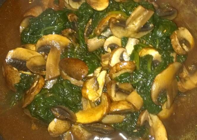 Sauteed spinach and mushrooms Recipe -  Are you ready to cook? Let's try to make Sauteed spinach and mushrooms in your home!