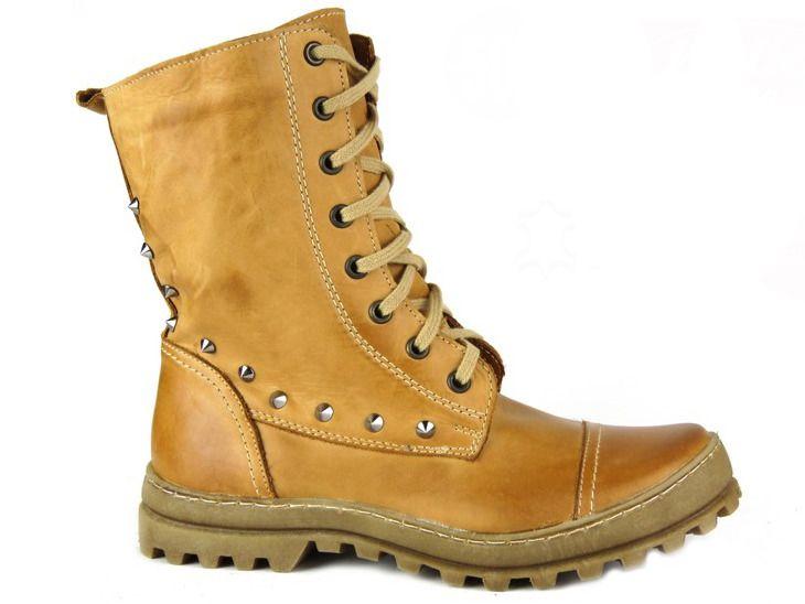 Cieple Wysokie Trapery Damskie Ozdobione Cwiekami Helios Komfort 625 Army Boot Combat Boots Boots