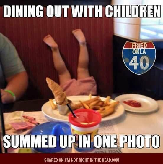 Dining with children hahaha