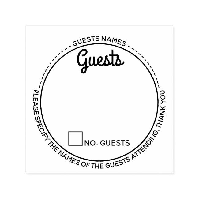 Guests names rsvp attendance modern party round self-inking stamp #Sponsored , #Affiliate, #modern#attendance#inking#party