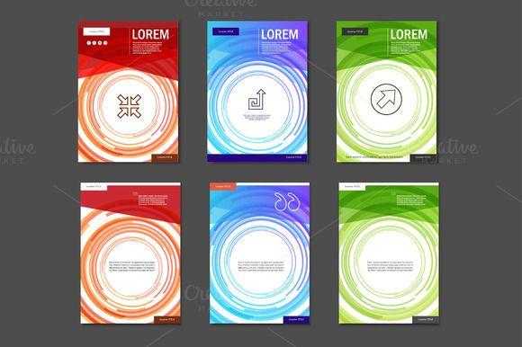 Set Brochures Templates Brochure Template Brochures And Template