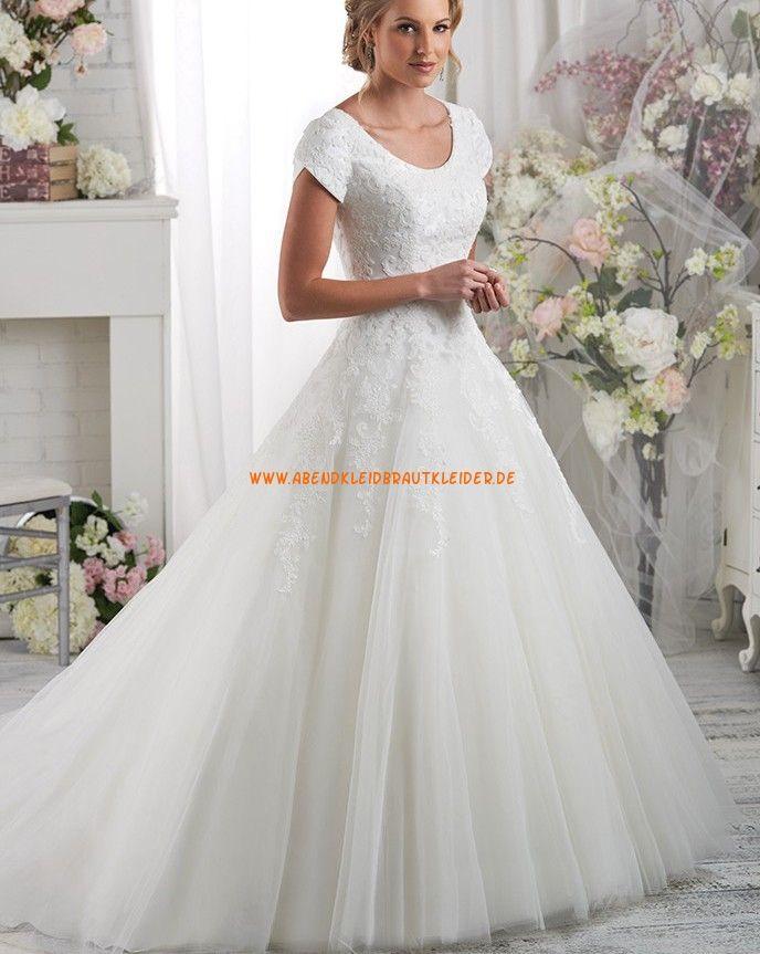 Bonny Bliss A-linie Schöne Elegante Brautkleider aus Softnetz mit ...