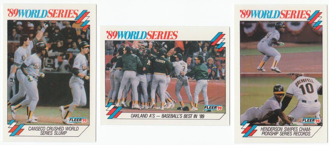 Rickey Henderson 1990 Fleer Baseball '89 World Series