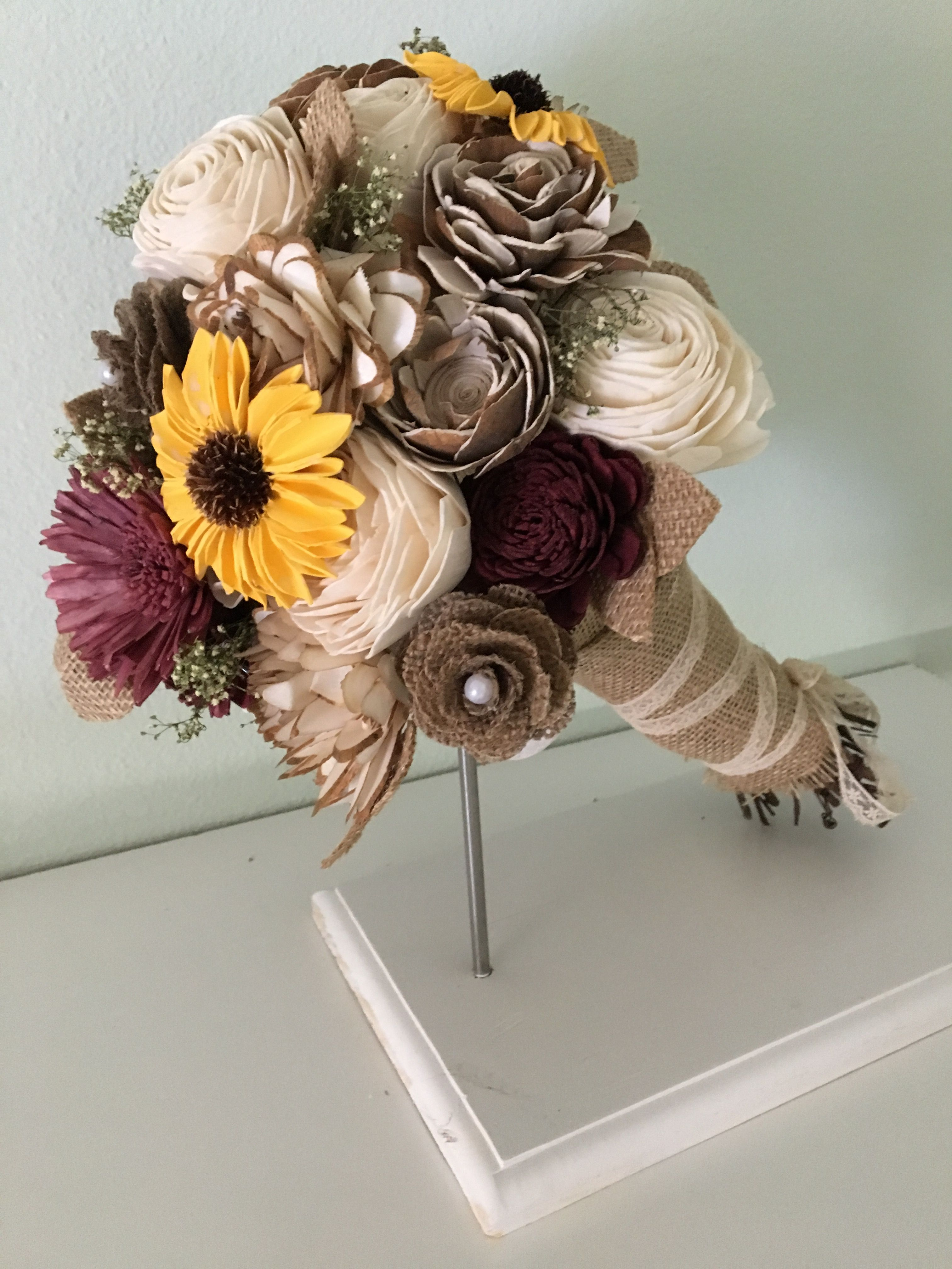 Sunny Days Collection Rustic Wood Flower Bouquet