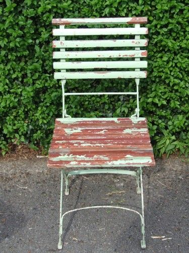 Swell Vintage French Single Folding Garden Patio Cafe Chair Ncnpc Chair Design For Home Ncnpcorg