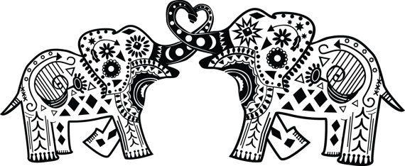 Intertwined Mandala Elephants : Vinyl Decal by keydesignbykasey ...