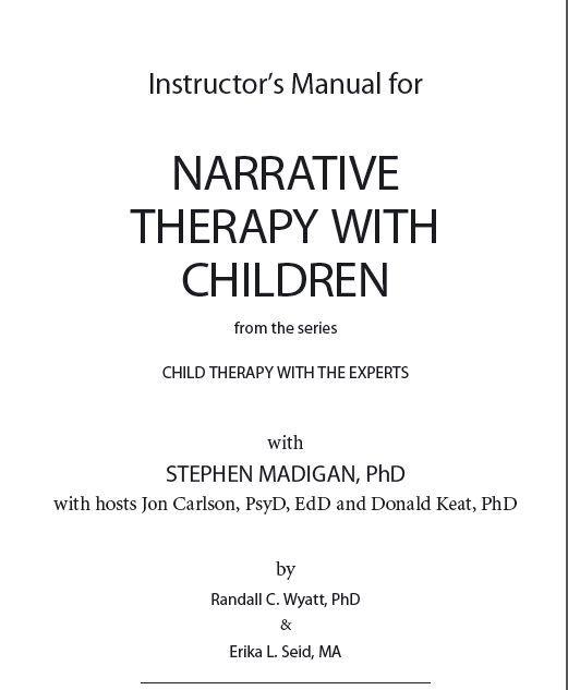 Speech-Language Pathology Instructoru0027s Manual for Narrative - treatment plan templates