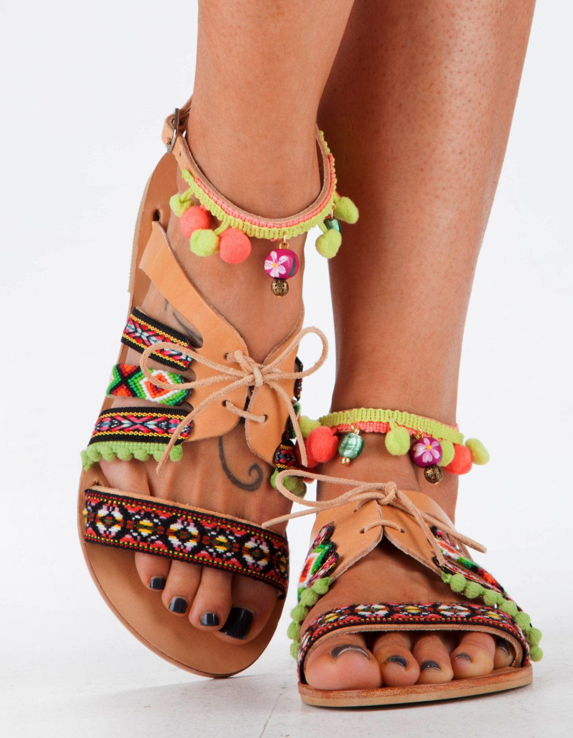 Items similar to Leather Sandals, Handmade Sandals, Mexican Style Sandals