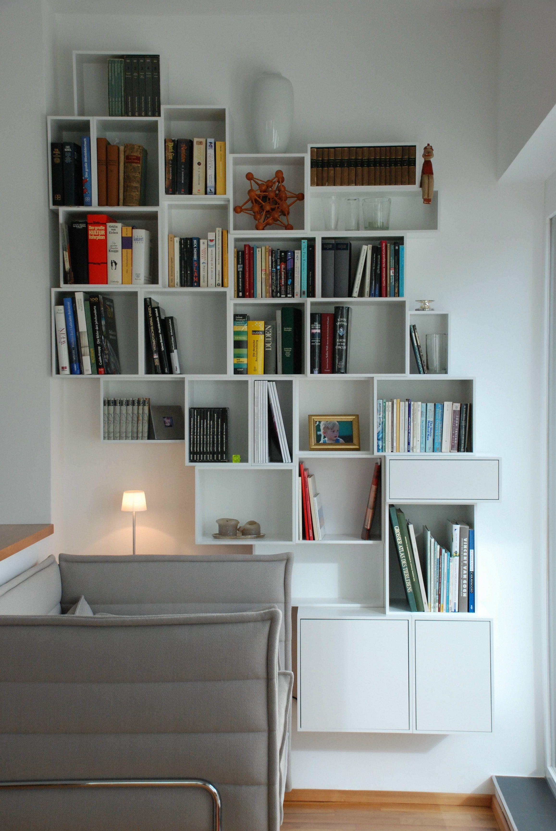Contemporary Style Bookcase Sectional Modular Bookcase By Cubit By Mymito Design Cubit Idee Scaffale Librerie A Parete Design Camera Da Letto Piccola