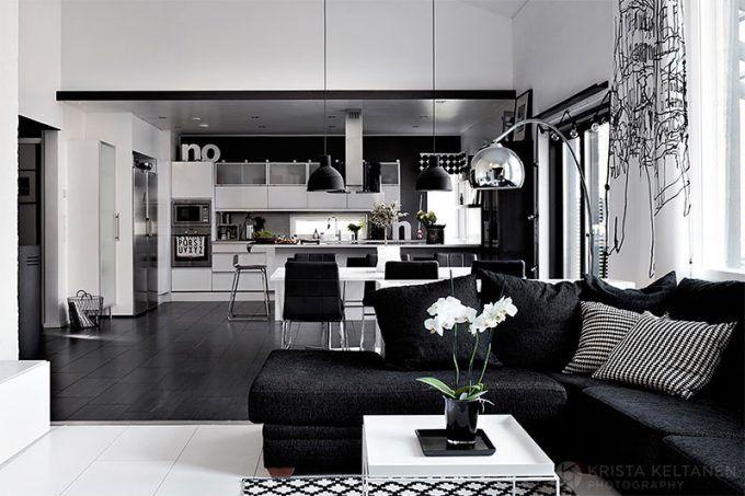 Marier noir et blanc dans le salon! Voici 20 idées pour vous inspirer