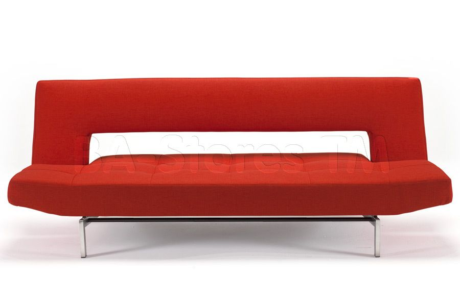 Innovation Wing Basic Orange Sofa Bed Stainless Steel