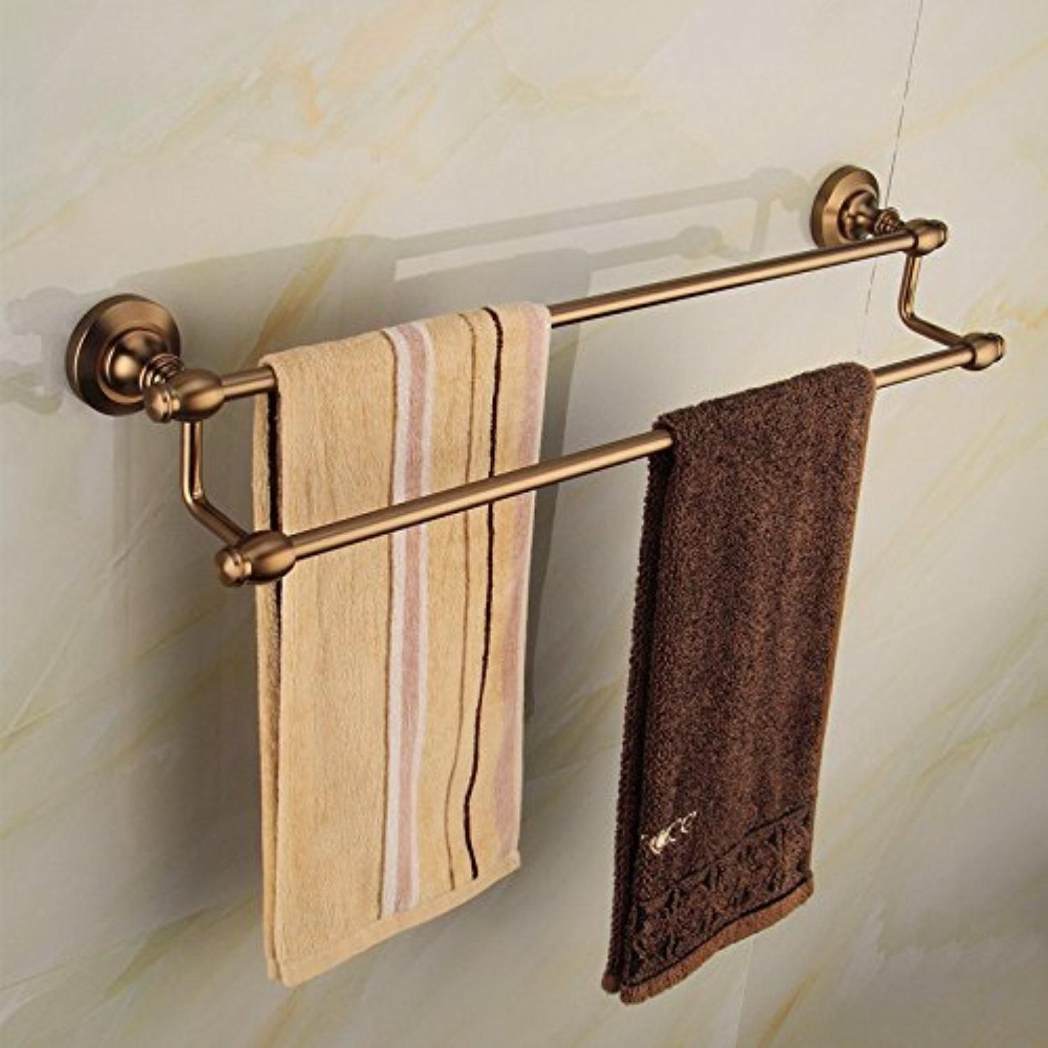 Towel Bar Holder For Bathroom Or Kitchen Organize It All Shelf With ...