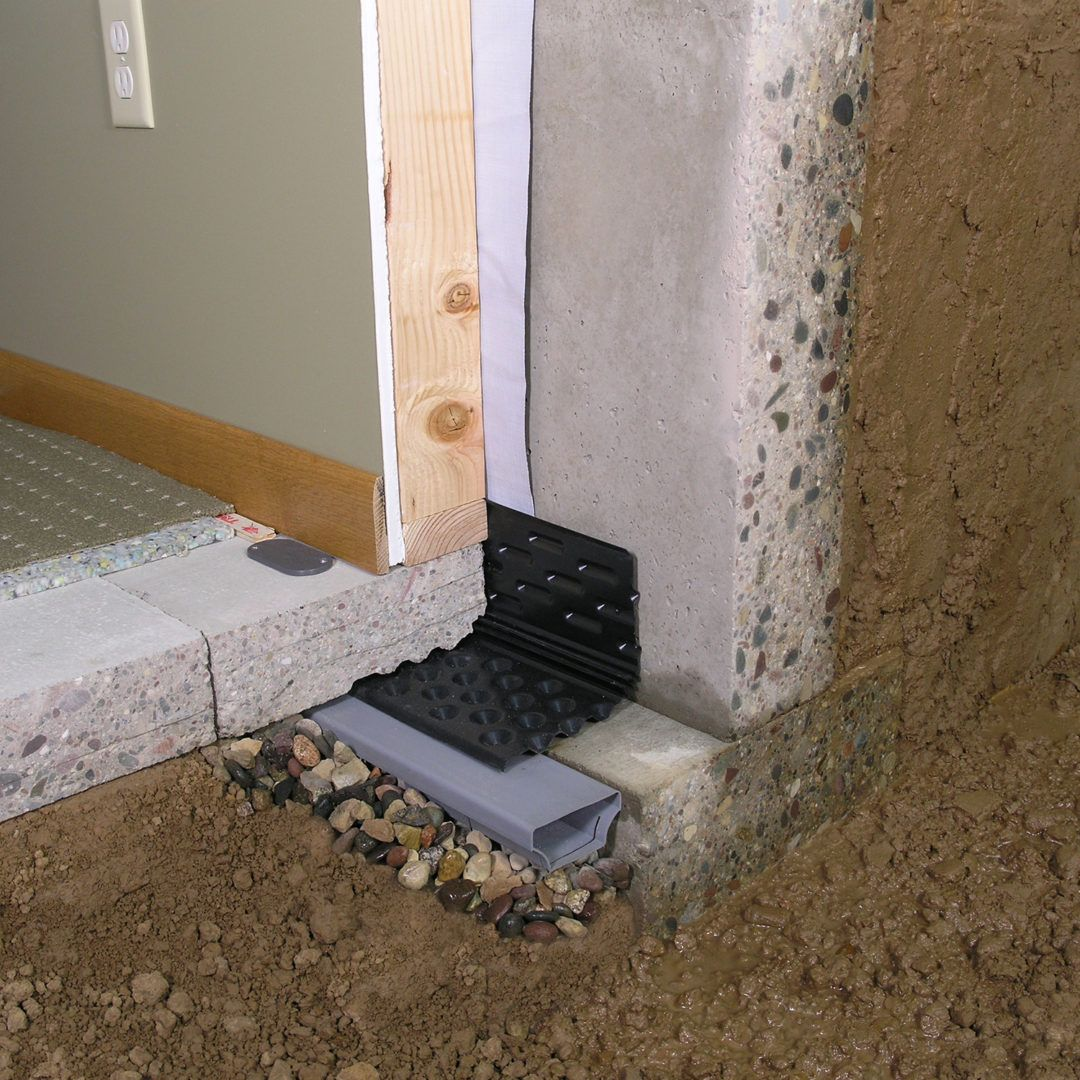 Drain Eze Basement Waterproofing Footing System Waterproof Com Waterproofing Basement Basement Waterproofing Diy Basement Design
