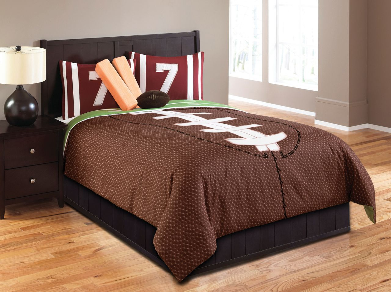 Boys sports bedding - Hallmart Kids Touchdown Boys Comforter Set Teen Boys Sports Bedding Boys Bedding Football