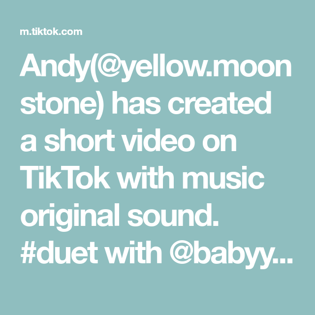 Andy Yellow Moonstone Has Created A Short Video On Tiktok With Music Original Sound Duet With Babyyjennerr Witchtok Manifestati In 2020 Songs Duet The Originals