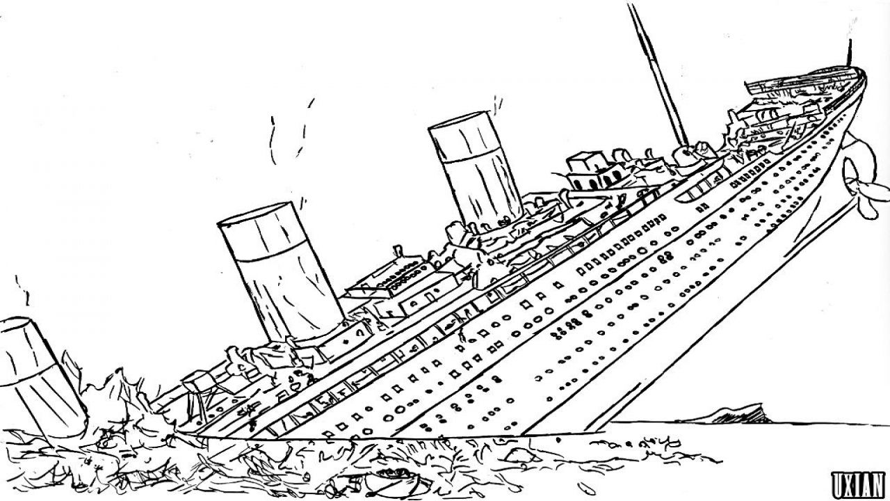 Free Titanic Coloring Pages With Titanic Coloring Pages