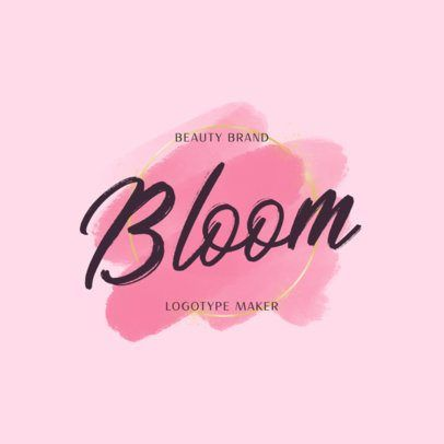 placeit  feminine logo maker for a cosmetics brand in