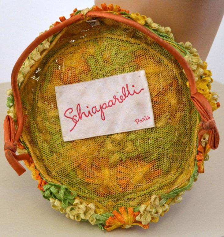 Schiaparelli - Chapeau Bibi - Petites Fleurs de Cordons - Années 50