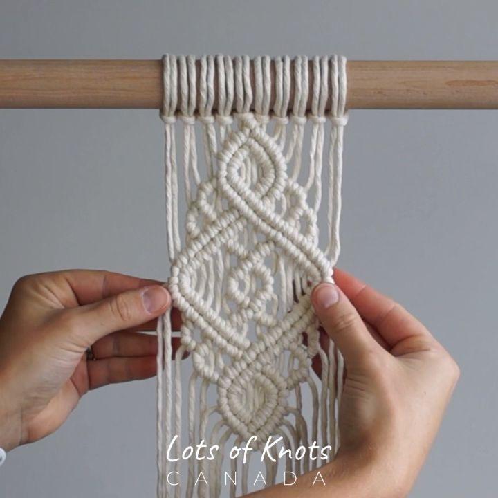 Photo of Intermediate Macrame Pattern #2 Using Double Half Hitch Knots! – YouTube