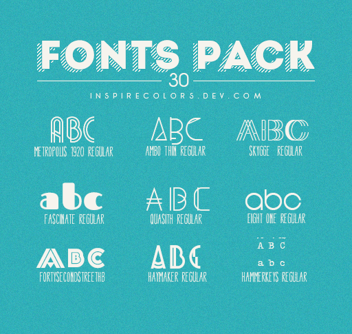 Download Fonts Pack by Inspirecolors | Font packs, Fonts, Photoshop ...