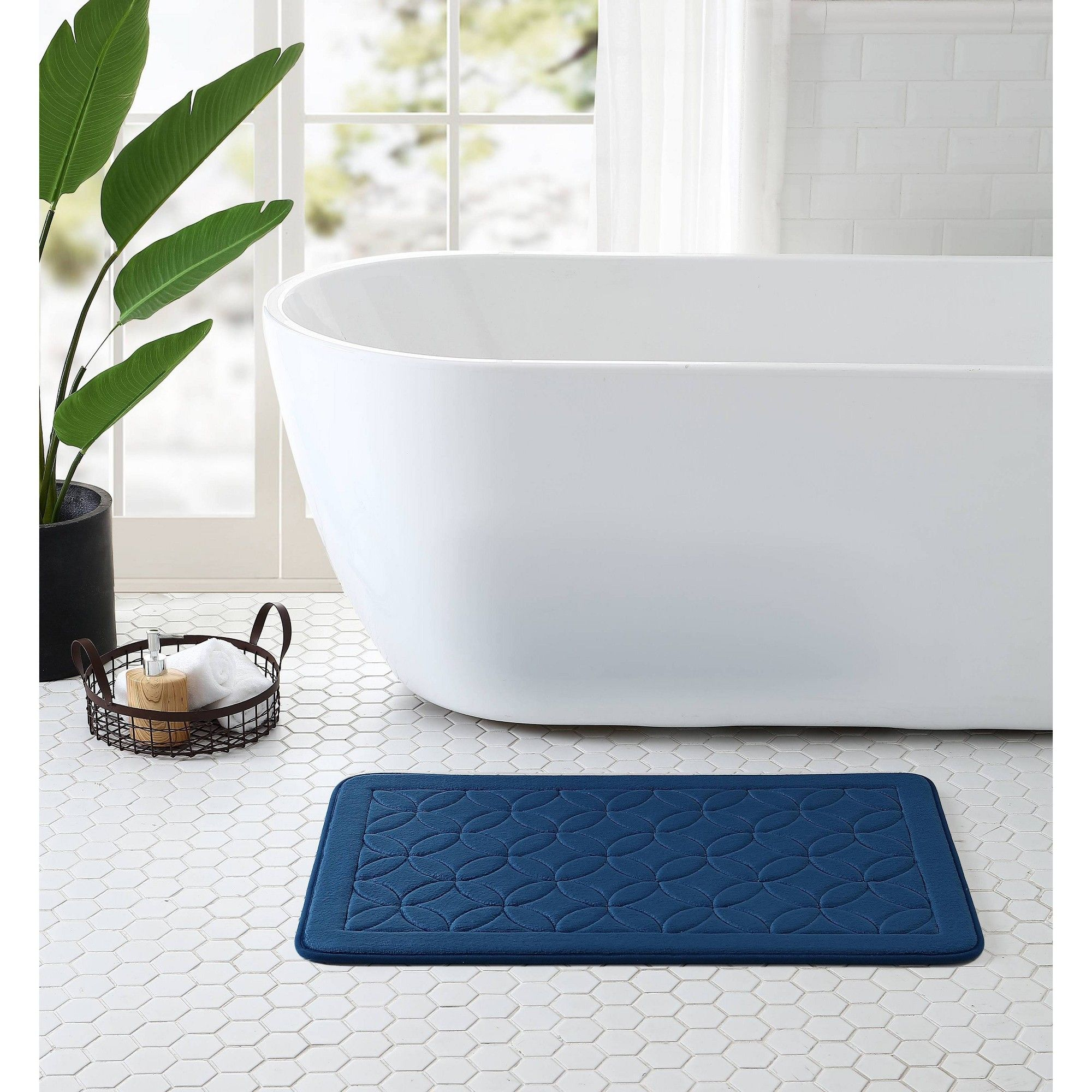 20 X32 Chanel Memory Foam Bath Rug Blue Vcny In 2019 Products