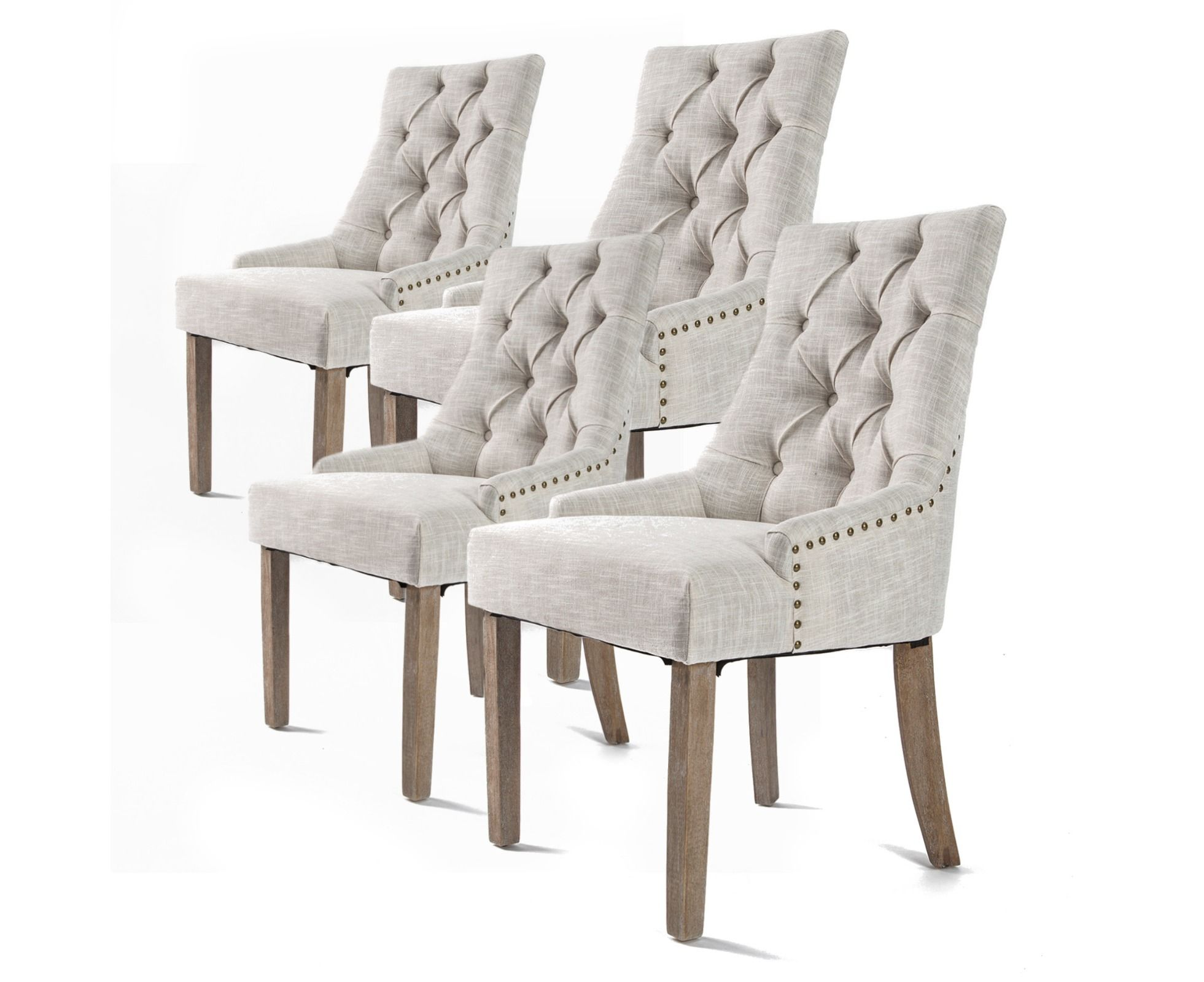4x French Provincial Dining Chair Oak