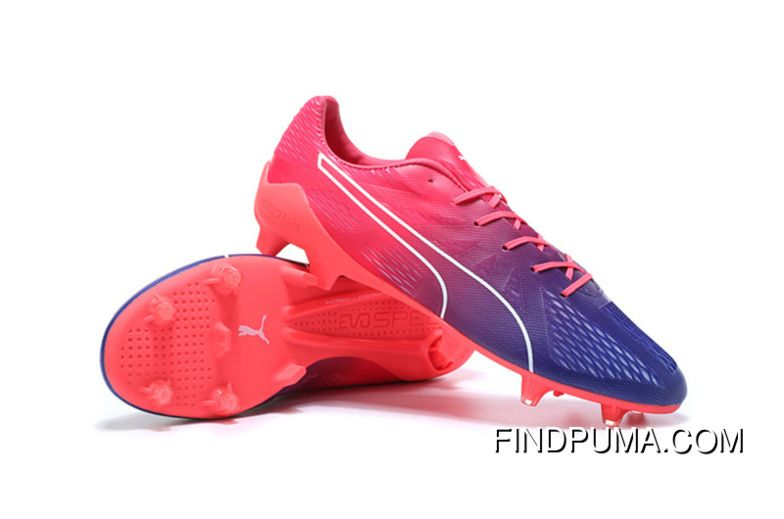 Puma Soccer Cleats Cheap Puma evoSPEED Fresh 2 FG Pink Purple White