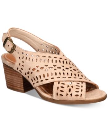 d1396f32cceb Baretraps Ilene Perforated Block-Heel Sandals - Gray 5M in 2019 ...