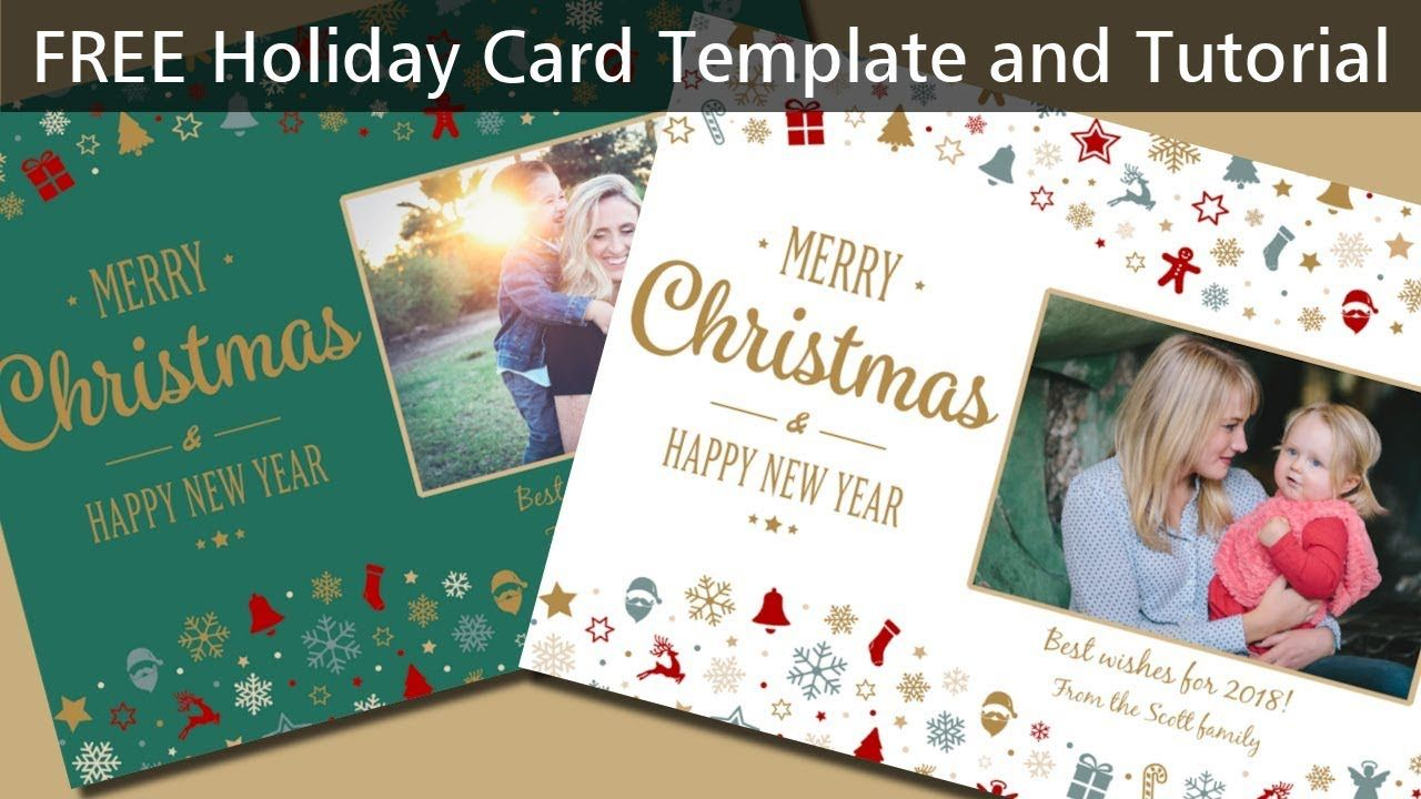 Coral Paintshop Pro 2020 Christmas Card Templates Free Holiday Card Template   Dalep.midnightpig.co intended for