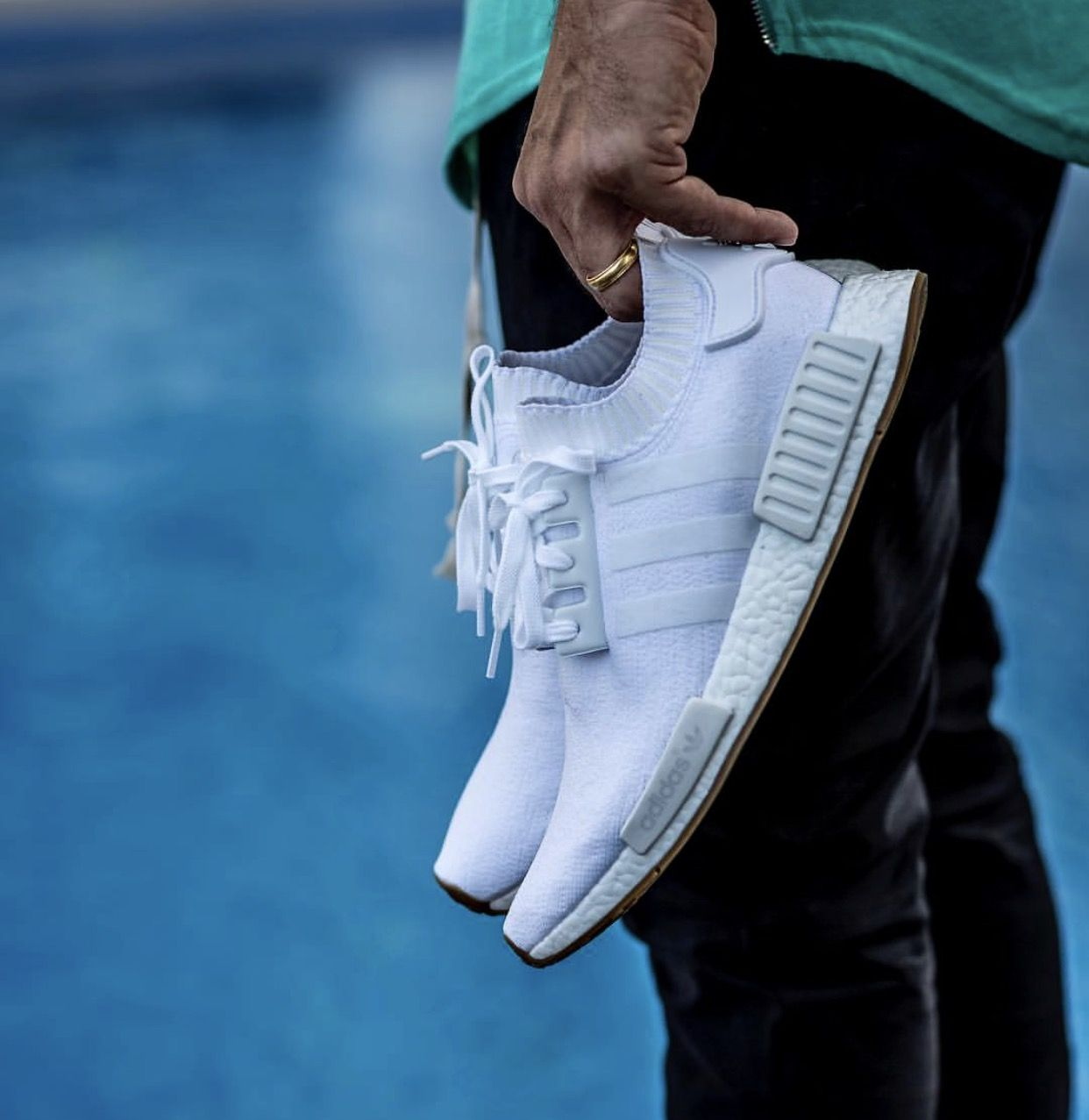 Adidas Nmd R1 Pk White Gum Sole Edition Sneakers Shoes Outfit